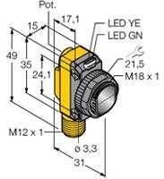 QS18VP6LPQ8 Turck Czujnik fotoelektryczny