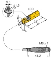 BIM-UNT-AP6X-0,3-PSG3M Turck Czujnik magneto-indukcyjny