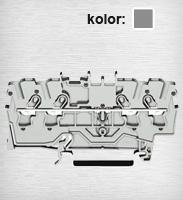 2002-1401 TOPJOBS złączka 4-przewodowa 2,5mm&sup2 szara